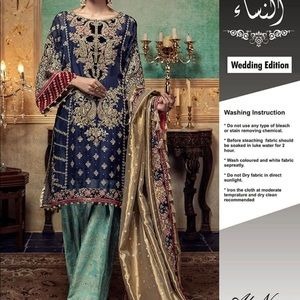 Dresses & Skirts - Chiffon with heavy embroidery Pakistani Suit fancy